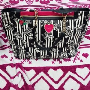 SOLD.   Betsey Johnson Large Tote Purse